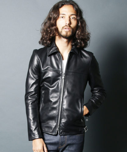 Magine(マージン)のSHEEP NAKED LEATHER SINGLE RIDERS JKT