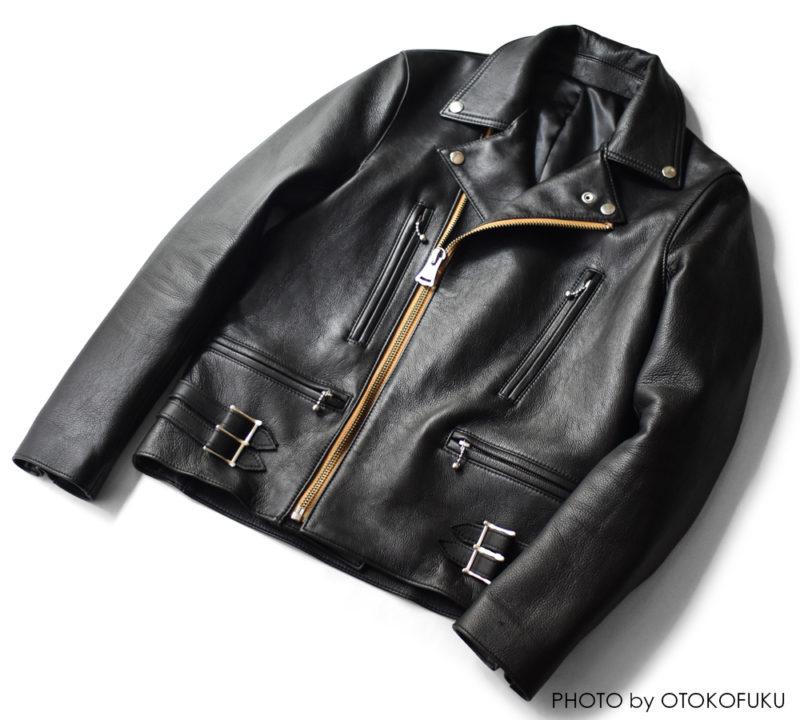 iade leatherのライダースをレビュー