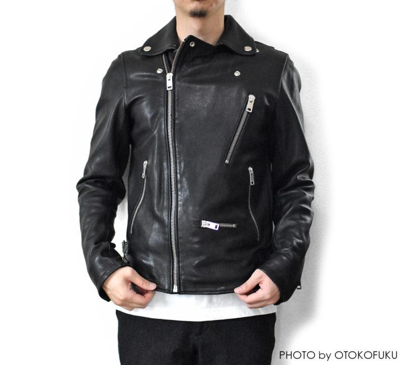 DIESEL(ディーゼル)のライダースジャケットの着用イメージ