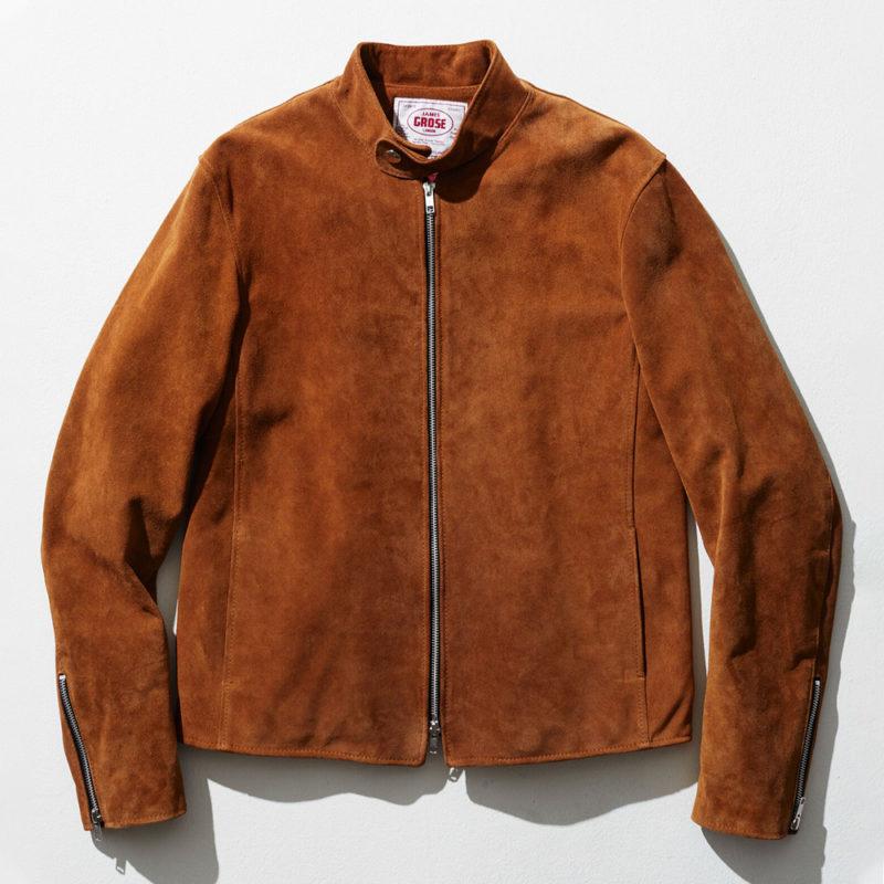 ジェームスグロースのレザージャケットDOVER COW SUEDE