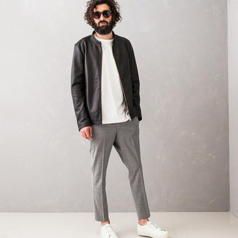 ライダースジャケットの程よいサイズ感